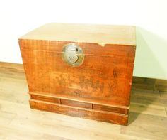 Copy of Antique Chinese Trunk (5781), Hand Painted Red Lacquer , Circa 1800-1849