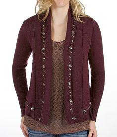 BKE Boutique Lurex Cardigan Sweater