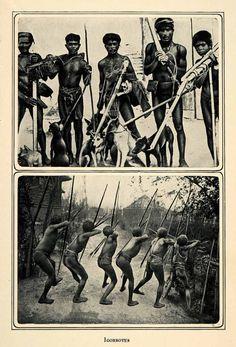 1905 Duotone Print Igorrotes Igorot Austronesian Philippines Abra Apayao XGQ2