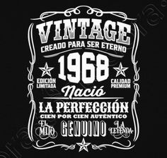 Vintage 1969 Cadeau Anniversaire 50 Ans T-shirt premium Homme 50th Birthday Quotes, 60th Birthday Party, 50th Party, Vintage Birthday, Happy Birthday, Pj Party, Happy 50th, Happy B Day, Birthday Cake With Photo