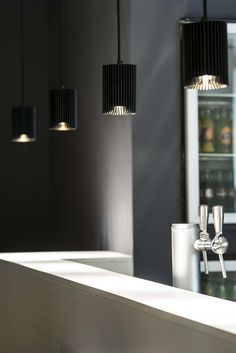 COOLFIN('s) #DARK    colors black-gold #LED   concept bar cafetaria   Jonckheere project BE