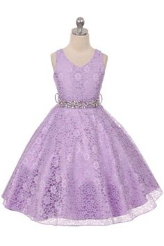 Girls Dress Style 338 - LILAC Lace Dress with Rhinestone Sash  The perfect dress for her special day, this dress is so stylish. The dress is made in beautiful floral lace and the waist line is accented with a gorgeous rhinestone satin sash. The skirt on this dress has the perfect amount of fullness.  http://www.flowergirldressforless.com/mm5/merchant.mvc?Screen=PROD&Product_Code=MB_338L&Store_Code=Flower-Girl&Category_Code=Lilac