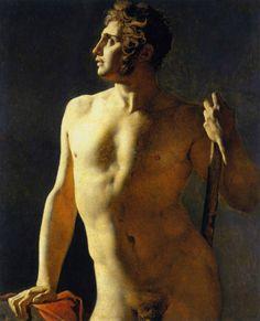 Jean-Auguste-Dominique Ingres (French, 1780–1867). Torso (Painted Half-Figure), 1800. Oil on canvas, 40 3/16 x 31 1/2 in. (102 x 80 cm). École des Beaux-Arts, Paris (Torse 15). Courtesy American Federation of Arts.