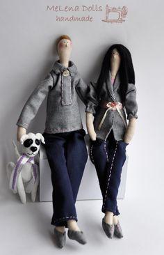 MeLena Dolls by Elena Kolodko www.facebook.com/melenadolls Family tildas, Tilda, Tildadoll, Portrait