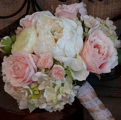 Garden wedding bouquet Brides Bouquet.Rose by EuphorbiaFloral