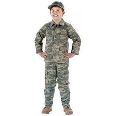 kids army uniform... Lucas loves his !