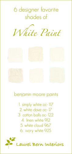 The Only Six White Paint Trim Colors You'll Need - laurel home