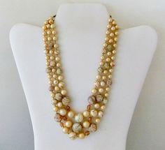 Vintage Japan Multi Strand Multi Bead Necklace by ediesbest, $14.95