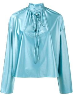 4c0b107fdbc41 BALENCIAGA Blue Strangled Blouse.  balenciaga  cloth  blouse Bow Blouse