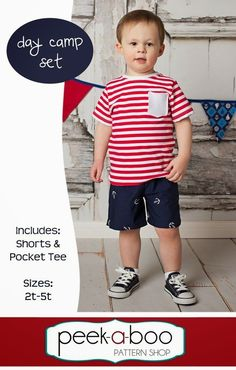 Free boys outfit sewing pattern by @peekaboopatshop