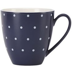 Kate Spade Larabee Dot Mug ($16) ❤ liked on Polyvore featuring home, kitchen & dining, kitchen and kate spade