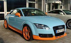 Audi TT - I don't like the paint job, but it is a sweet car