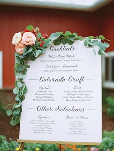 #signs, #bar  Photography: Brumley And Wells - brumleyandwells.com  Read More: http://www.stylemepretty.com/2014/11/25/colorful-colorado-farm-wedding/