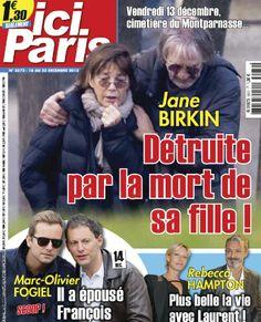 Ici Paris N 3572 - 18 au 24 D�cembre 2013 French | 52 Pages | HQ PDF | 105 MBJane Birkin d�truite par la mort de sa f... Egalement au sommaire : Marc-Olivier Fogiel a �pous� Fran�ois