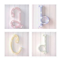 Polka Dot Letters @PoshTots #PoshTotsNursery