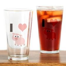 I heart pigs Drinking Glass