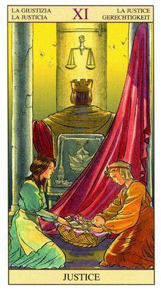 Tarot Rider Waite Version Raul y Gianluca Cestaro Arcano XI El Emperador Tarot Waite, Tarot Rider Waite, Wicca, Justice Tarot, Tarot Cards Major Arcana, Astro Tarot, Tarot Card Decks, Tarot Readers, Oracle Cards