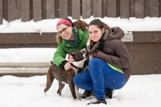 Danielle Colby-Cushman with her daughter at PAWS Chicago #pawschicago #adoptapet #dog #americanpickers #daniellecolby