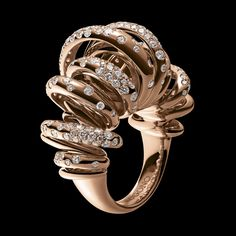 de Grisogono Sole Collection, Ring,  Pink gold - white diamonds
