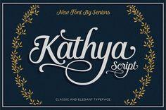 Kathya Script Wedding Font Modern Font Brush Script Font