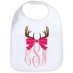 Bib: Antler Bow Monogram from Vinyl Expressions for $8.00
