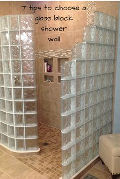 Learn 7 tips to choose a glass block shower wall which will save you time and money. http://blog.innovatebuildingsolutions.com/2015/07/18/7-tips-choose-glass-block-shower-wall-thickness/