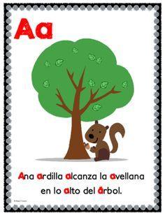 Asombroso alfabeto de aliteracion Posters from Bilingualtreasures on TeachersNotebook.com (30 pages)