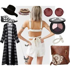 Oregon Country Faire by ellary-branden on Polyvore featuring Somedays Lovin, Rebecca Taylor, Aéropostale, Wet Seal, The Row, Smashbox and country