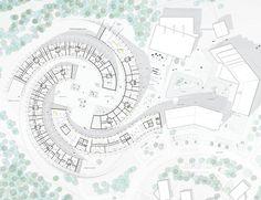 BIG unveils a Ski Resort in Lapland,Ground Floor Plan