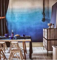 Cómo pintar y decorar las paredes con efecto degradado. | Mil Ideas de Decoración