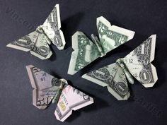 Money Origami Butterflies