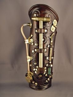 Steampunk leather bracer - Surveyor - by IsilWorkshop.deviantart.com on @deviantART