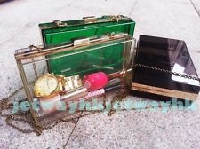 Womens Lady Transparent Clear Clutch