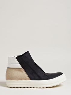 Rick Owens Men's Brushed Leather Island Dunk Shoes