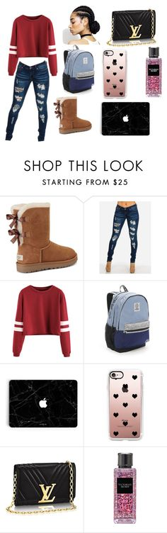 """""""Cute At School"""" by baby-naja on Polyvore featuring UGG, Victoria's Secret and Casetify"""