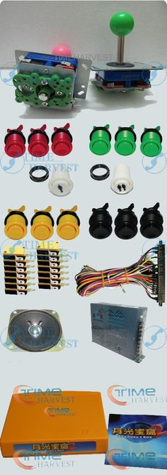 112.00$  Watch more here  - 1set Arcade parts Bundles With 400in1PCB,16A Power Supply,L Joystick,Push button,Microswitch,Harness,Speaker for Arcade Machine