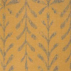 Kaftor Leaf Orange Teal. Available printed on linen, cotton, cotton linen blends. © Ellen Eden