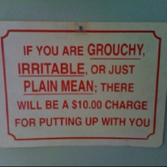 another funny sign for the wall