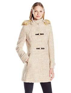 Ivanka Trump Womens Boucle Toggle Jacket Taupe Melange 4 * Learn more by visiting the image link.(This is an Amazon affiliate link and I receive a commission for the sales) #WomensCoatsandJackets