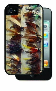 Various Fishing Flies - Black iPhone 4, 4s Dual Protective Case by Inked Cases, http://www.amazon.com/dp/B00FMDXTYY/ref=cm_sw_r_pi_dp_hlHvsb1K16MPV