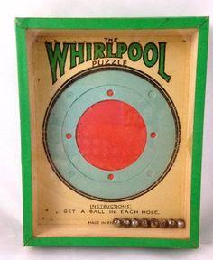Vintage Whirlpool Puzzle Game Hand Held Dexterity R Journet & Co London