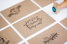 Project Party Studio. #design #stamps #kraft #stationery