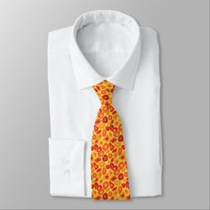Exotic Orange and Red Faux Giraffe  Pattern Neck Tie - faux gifts style sample design cyo