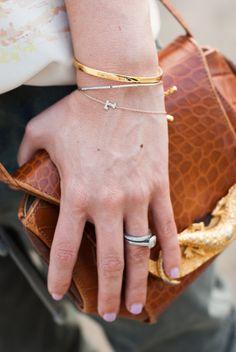 Lynsey Eaton Bling // Tomboy KC Monica Vinader Engraved Bracelet // Jada Jewellery Thin Bracelets // Vintage Handbag // TKC Jewels
