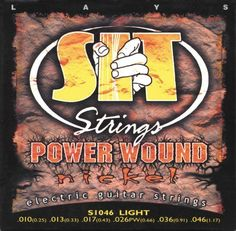 "SIT Strings S1046 Power Nickel Electric Guitar Strings by SIT Strings. $3.24. Nickel-Plated cover wrap over high tempered ""Swedish-Steel""core. Good for all different applications and uses. Gauges: .010; .013; .017; .26PW; .036; .046. Save 64% Off!"