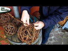 Gartentipp Oktober 1005 Rebkugeln aus Ranken vom wilden Wein flechten