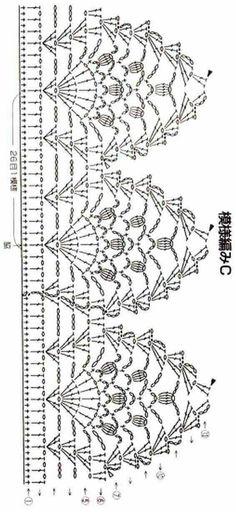 Crochet Border Patterns and motifs: Crocheted motif no. Crochet Border Patterns, Crochet Boarders, Crochet Lace Edging, Crochet Diagram, Crochet Chart, Filet Crochet, Thread Crochet, Crochet Designs, Crochet Doilies