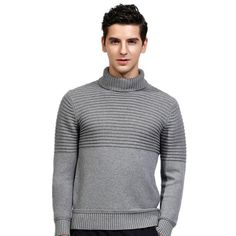 Best Turtleneck Shirt Ideas For Men Look More Handsome Mens Fashion Sweaters, Mens Fashion Wear, Casual Sweaters, Men's Fashion, Warm Clothes For Men, Mens Turtleneck, Men Sweater, England Fashion, Men Looks