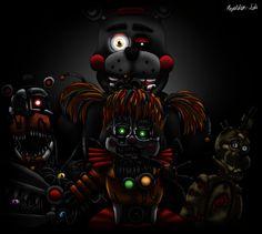 4 possessed animatronics remain at large: Scrap Baby, Molten Freddy/Ennard, . It all ends here. Fnaf Movie, Baby Fnaf, Fnaf Sl, Fnaf Characters, Fnaf Sister Location, Circus Baby, Freddy Fazbear, Rpg Horror Games, Freddy S