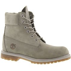 "Timberland 6"" PREMIUM ($106) ❤ liked on Polyvore featuring shoes, boots, ankle booties, timberlands, grey, waterproof boots, grey boots, waterproof leather boots, timberland boots and gray leather boots"